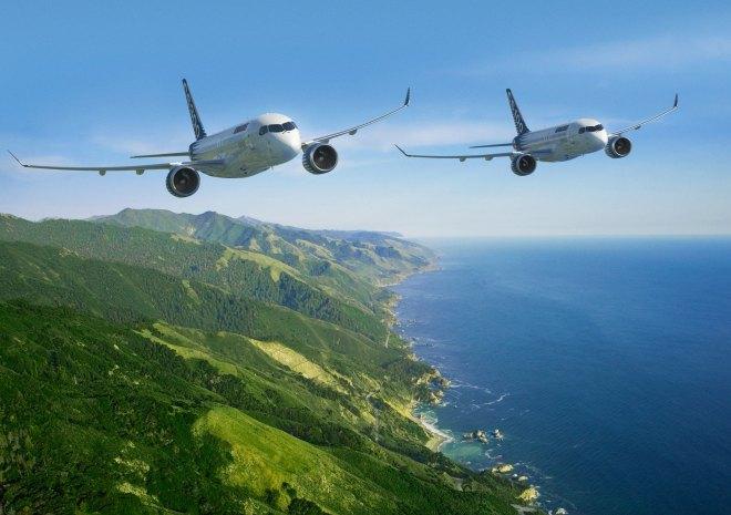 Les avions CSeries de Bombardier