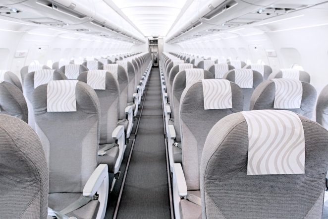 Finnair A320 cabin overview 01