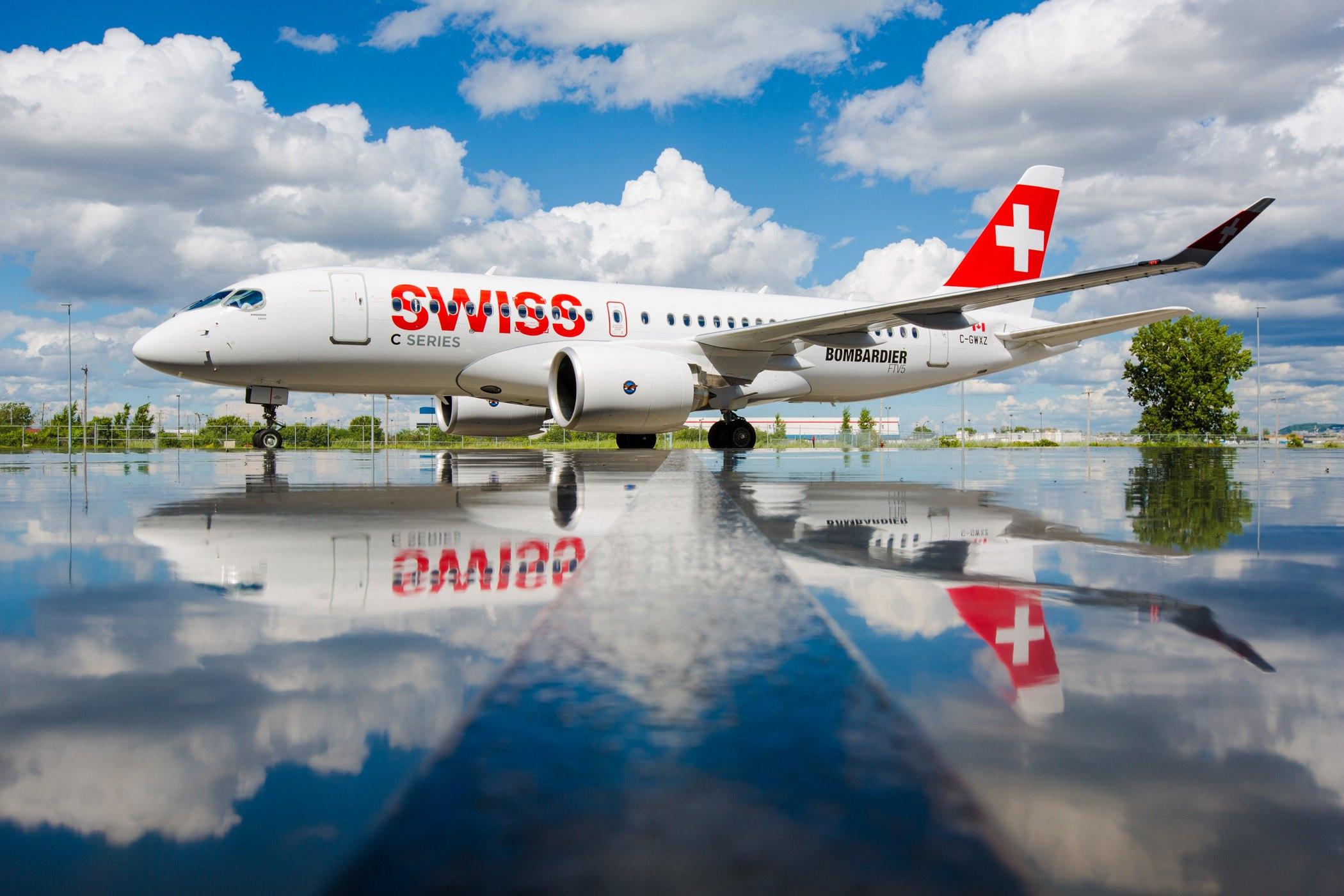 Bombardier CS100 Swiss - Image fournie gracieusement par Bombardier Inc.
