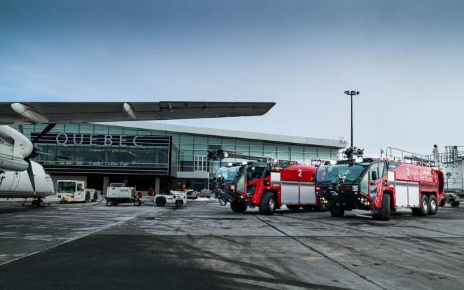 Service de sauvetage et de lutte contre les incendies d'aéronefs (SSLIA) de l'Aéroport international Jean-Lesage de Québec (YQB)